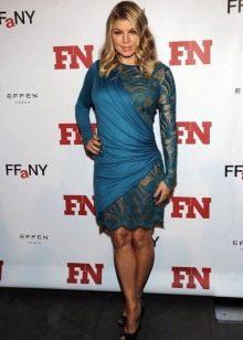 Синее платье из плотного шнлка для женщин цветотипа Осень