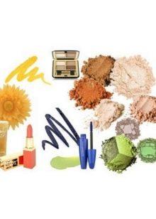 Цветовая гамма декоративной косметики для женщин цветотипа Осень