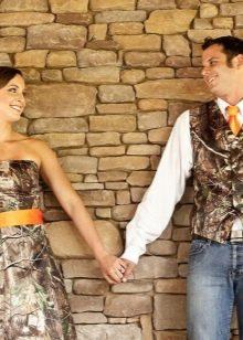 Свадебное камуфляжное платье