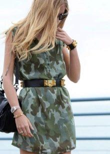 Светлое камуфляжное платье