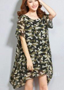 Камуфляжное платье с мелким рисунком