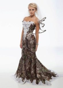 Свадебное платье с камуфляжным принтом