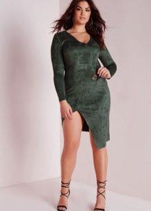 Замшевое платье для полных