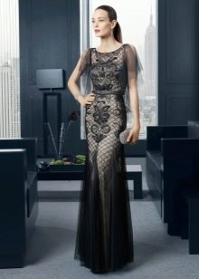 Вечернее платье кружевное в пол