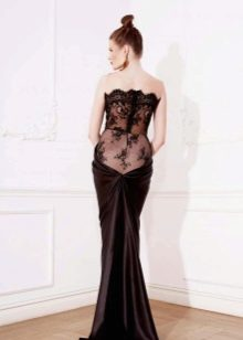 Платье с кружевной спиной русалка