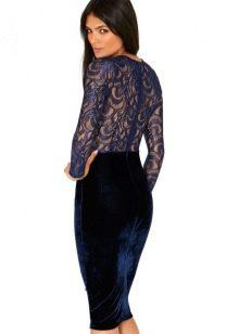 Платье с кружевной спиной миди
