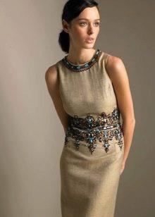 896e7cd4b95 Льняные платья  платья из льна с вышивкой и кружевом