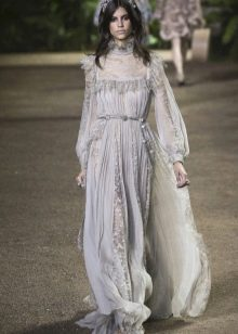 Elie Saab весна-лето 2016 викторианское платье