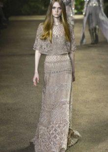 Elie Saab весна-лето 2016 платье с накидкой