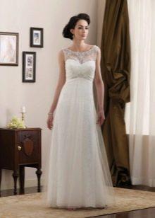 Свадебное платье А-силуэта из кружева