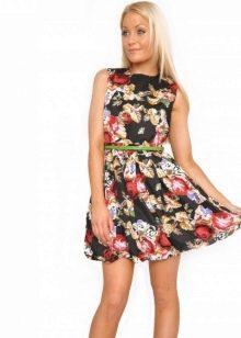 Платье-баллон с принтом