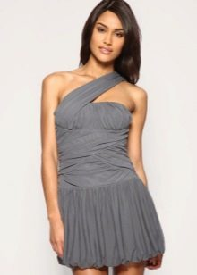 шифоновое платье-баллон