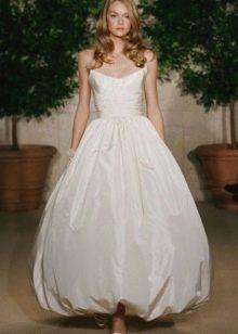 Свадебное платье-баллон с юбкой тюльпан