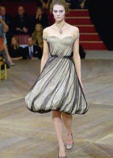 Многослойное платье-баллон