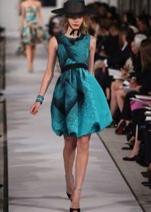 Платье-баллон с юбкой тюльпаном