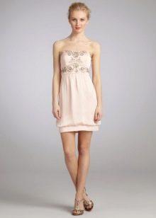 Платье-баллон на резинке снизу