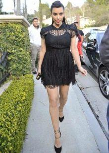 Платье бэби долл черного цвета