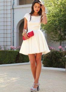 Белое платье бэби долл