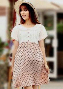 Комбинированное платье бэби долл для беременных