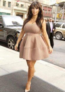 Бежевое платье бэби долл для беременных