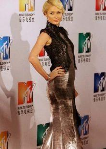 Длинное платье-ципао с кружевной отделкой на топе