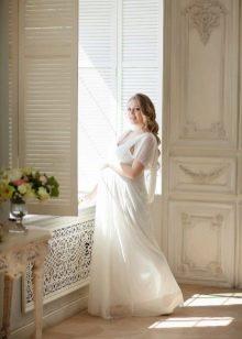 Белое платье для фотосессии