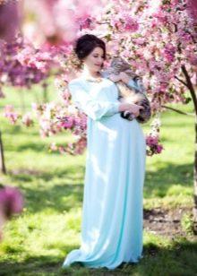 Фотосессия беременной женщины на природе