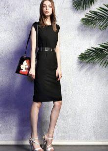Платье-футляр с сумкой
