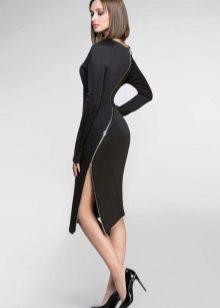 Платье с молнией из неопрена