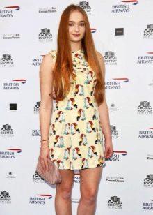 Короткое летнее платье из полиэстера с принтом