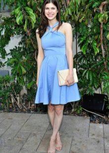 Платье из полиэстера с юбкой-солнце