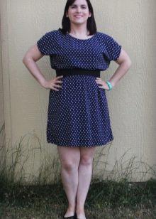 Платье из штапеля в горошек для полных