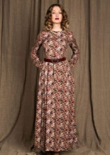 Платье из штапеля макси длины
