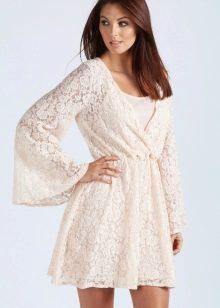 Полупрозрачное платье кимоно