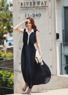 Длинное платье-поло