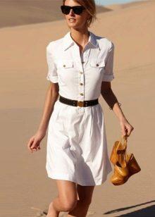 Платье-поло с ремнем