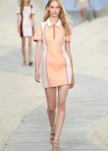 Платье-поло на короткой молнии