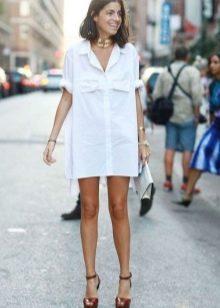 Платье-рубашка для худых девушек