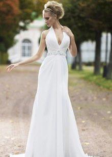 Свадебное платье с американской V-образной проймой