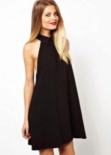Платье с американской проймой с открытой спиной