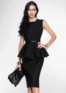 Платье с баской для широкоплечих девушек