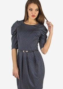 Платье с рукавом реглан для женщин с широкими плечами