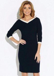 Платье с рукавом реглан и V-образным вырезом для женщин с фигурой типа перевернутый треугольник