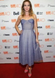 Средней длины платье-бюстье с юбкой полусолнце для женщин