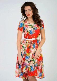 Платье Татьянка с цветочным принтом