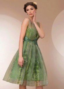 Платье Татьянка с принтом под рептилю