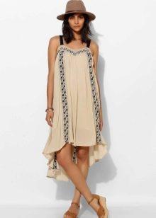 Миди платье-трапеция