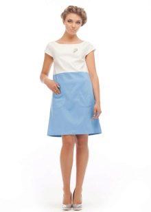 Платье трапеция с коротким рукавом