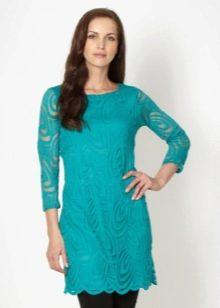 Бирюзовое платье туника