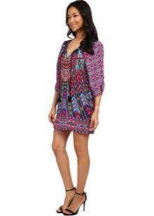 Платье-туника с летним принтом